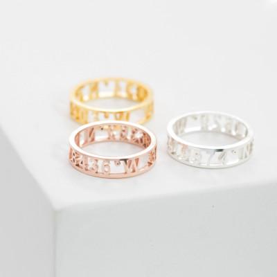 Coordinates Ring • Stacking Personalized GPS Ring • Latitude Longitude • Personalized Custom Location Jewelry • Stocking Stuffers • RH03F30