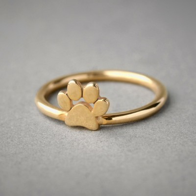 18k Solid Gold Paw Ring • Paw Ring • Dog Ring • Cat Ring • Paw Print Ring • Paw Jewelry • Paw Print • 18K Gold Ring • Jewelry • Dog • Cat