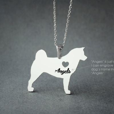 Akita NAME Necklace • Akita Inu • Name Necklace • Personalised Necklace • Custom Necklace • Dog Gift • Dog Necklace • Hachiko Necklace