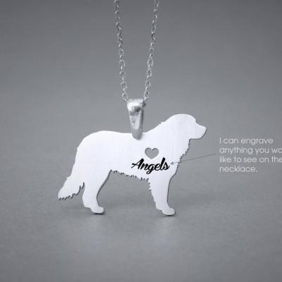BERNESE MOUNTAIN Dog NAME Necklace - Bernese Mountain Dog Name Jewelry - Personalised Necklace - Dog breed Necklace- Dog Necklace