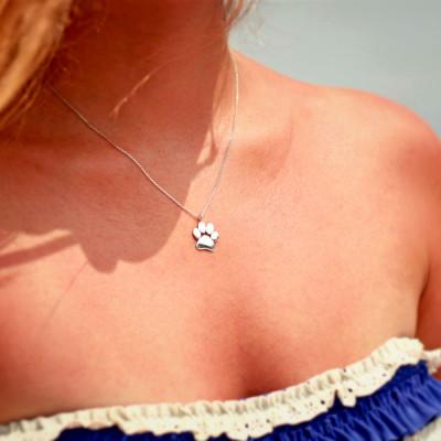 Large Paw Print Necklace • Paw Necklace • Dog Paw • Cat Paw • Paw Print Necklace • Paw Jewelry • Paw Print • Silver Paw • Jewelry
