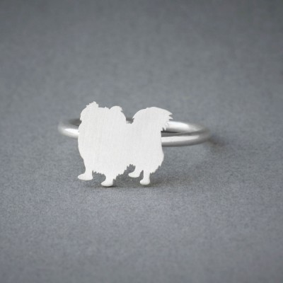 PEKINGESE RING / Pekingese Longhaired Ring / Silver Dog Ring / Dog Breed Ring / Silver, Gold Plated or Rose Plated.