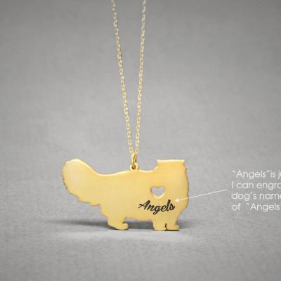 PERSIAN CAT NAME Necklace - Persian Cat Name Jewelry - Personalised Necklace - Cat breed Jewelry - Cat Necklaces
