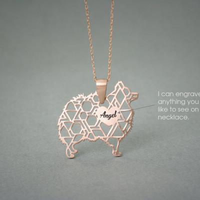 Personalised POMERANIAN Necklace - Pomeranian name Jewelry - Dog Jewelry - Dog breed Necklace - Dog Necklaces