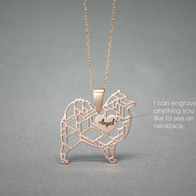 Personalised SAMOYED Necklace - Samoyed name Jewelry - Dog Jewelry - Dog breed Necklace - Dog Necklaces