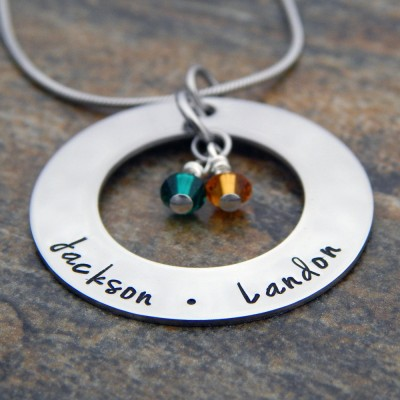 Mom Personalized Necklace with Names and Birthstones - Mother's Necklace - Name Necklace - Birthday Gift for Mom - Christmas Gift for Her