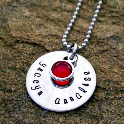 Personalized Jewelry Name Necklace - Birthstone Necklace - Name Jewelry - Personalized Birthday Gift - Bridesmaid Gift - Maid of Honor Gift