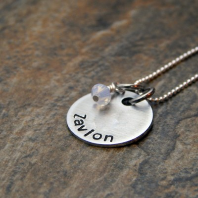 Personalized Sterling Silver Name Necklace - Birthday Gift for Her - Christmas Gift for Mom - Personalized Jewelry - Hand Stamped