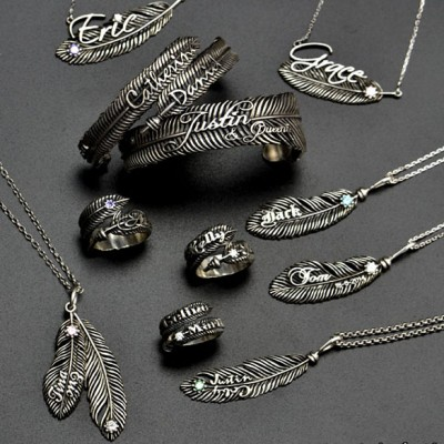 Luxury Feather Series - With Name Jewellery - By The Name Necklace;