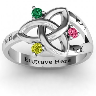 Siobhán Celtic Knot Ring - By The Name Necklace;