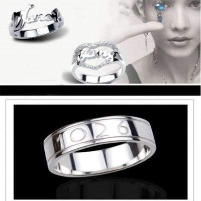 Custom Made Personalised Rings - Combine any of your elements - By The Name Necklace;