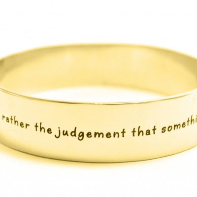 Personalised 15mm Wide Endless Bangle - 18ct Gold Plated - By The Name Necklace;