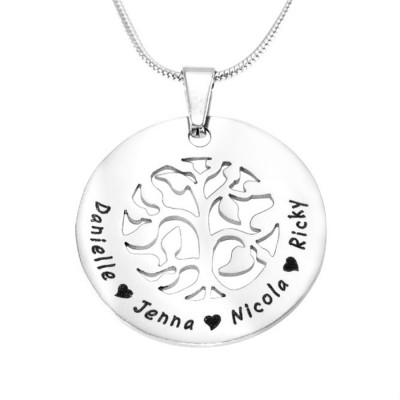 Personalised BFS Family Tree Necklace - By The Name Necklace;