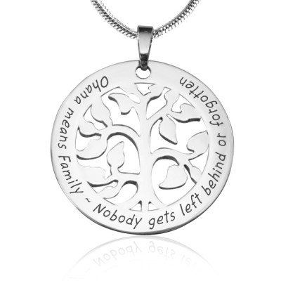 Personalised Ohana Tree - Sterling Silver *Limited Edition - By The Name Necklace;