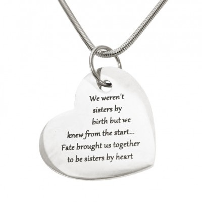 Personalised Bottom of My Heart - By The Name Necklace;