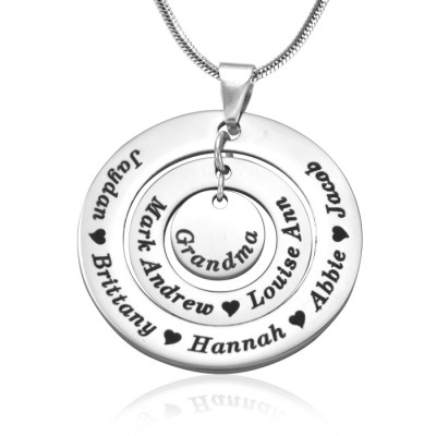 Personalised Circles of Love Necklace - Silver - By The Name Necklace;