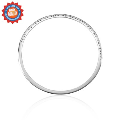 Personalised Classic Bangle - Sterling Silver - By The Name Necklace;