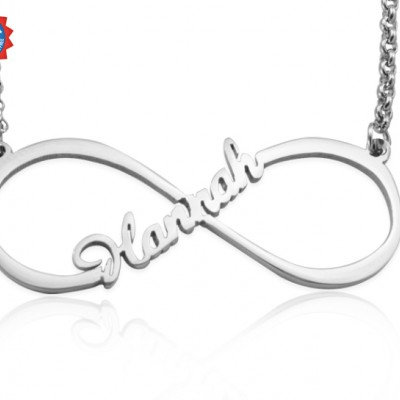 Personalised Single Infinity Name Necklace - Sterling Silver - By The Name Necklace;