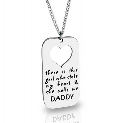Personalised Additional Stolen Heart - By The Name Necklace;