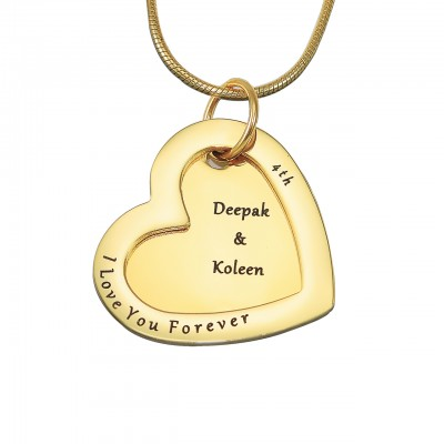 Personalised Love Forever Necklace - 18ct Gold Plated - By The Name Necklace;