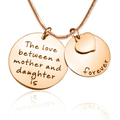 Personalised Mother Forever Necklace - 18ct Rose Gold Plated - By The Name Necklace;
