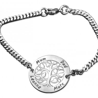 Personalised NN Vertical silver Bracelet/Anklet - By The Name Necklace;