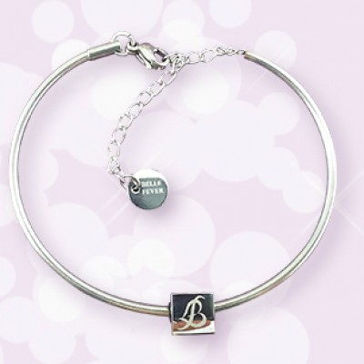 Personalised  Charm Bangle - By The Name Necklace;