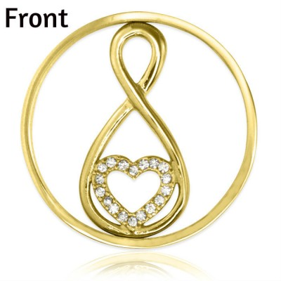 Personalised Gold Infinity - Diamonte INSERT ONLY - By The Name Necklace;