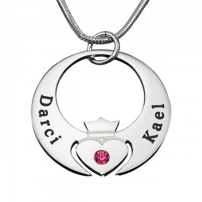 Personalised Queen of My Heart Necklace - Sterling Silver - By The Name Necklace;