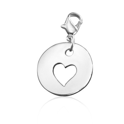 Personalised Cut Out Heart Charm - By The Name Necklace;