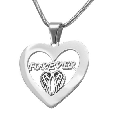 Personalised Angel in My Heart Necklace - Sterling Silver - By The Name Necklace;