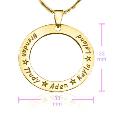 Personalised Circle of Trust Necklace - 18ct Gold Plated - By The Name Necklace;