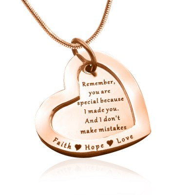 Personalised Love Forever Necklace - 18ct Rose Gold Plated - By The Name Necklace;