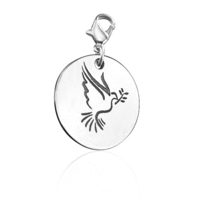 Personalised Peaceful Dove Charm - By The Name Necklace;