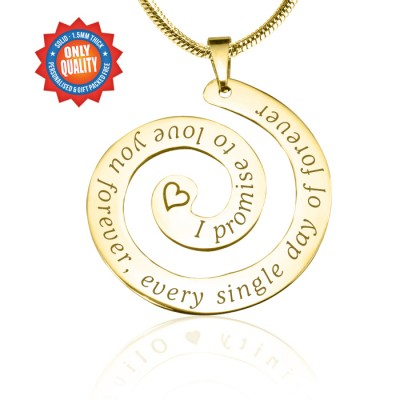 Personalised Promise Swirl - 18ct Gold Plated*Limited Edition - By The Name Necklace;