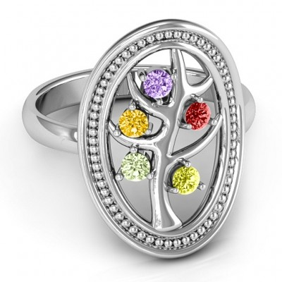 Organic Tree of Life  Ring - By The Name Necklace;