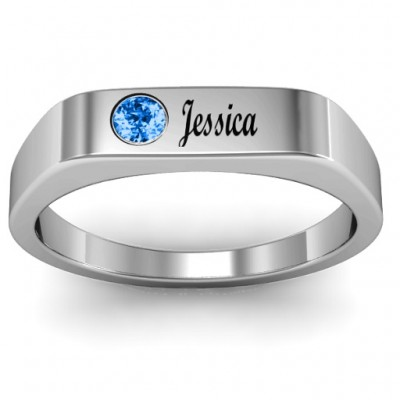 Soliloquy  Stone and Name Ring  - By The Name Necklace;