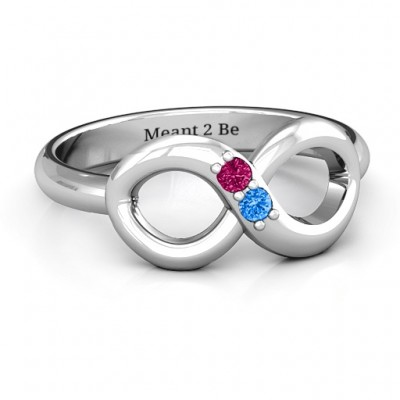 Twosome  Infinity Ring - By The Name Necklace;