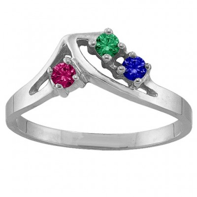 1-5 Stone Crest Ring  - By The Name Necklace;