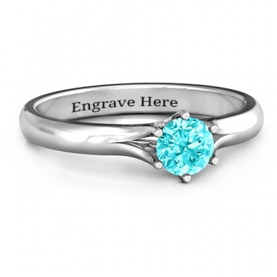 6 Prong Solitaire Ring - By The Name Necklace;