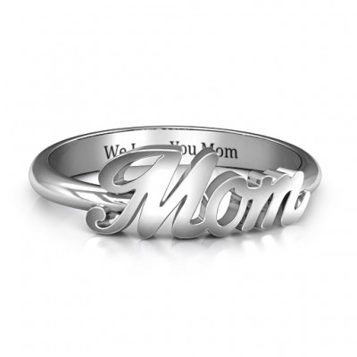 All About Mom Name Ring - By The Name Necklace;