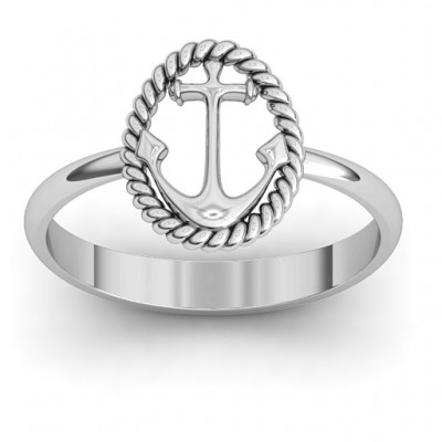 Anchor Ring - By The Name Necklace;