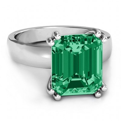 Basket Set Emerald Cut Ring - By The Name Necklace;