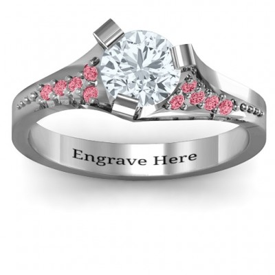 Beloved Tri-Set Ring with Accents - By The Name Necklace;