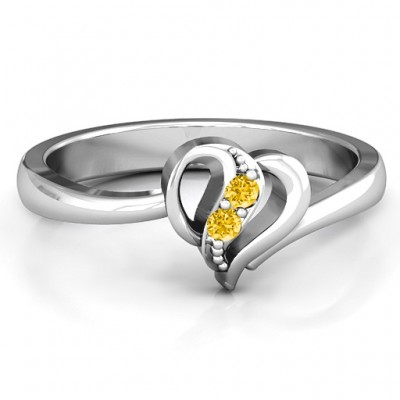 Centre Weave Fashion Heart Ring - By The Name Necklace;