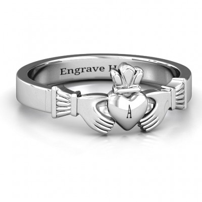 Classic Claddagh Ring - By The Name Necklace;