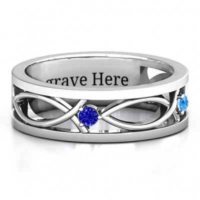 Classic Fish Men's Ring - By The Name Necklace;