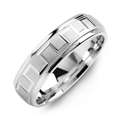 Eternal Greek Key Men's Ring - By The Name Necklace;