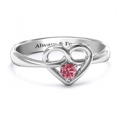 Forget Me Knot Heart Infinity Ring - By The Name Necklace;