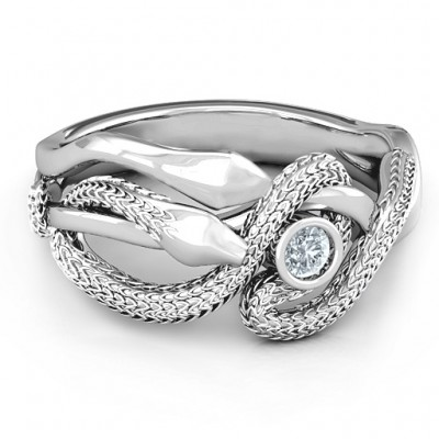 Guardian Snake Ring - By The Name Necklace;